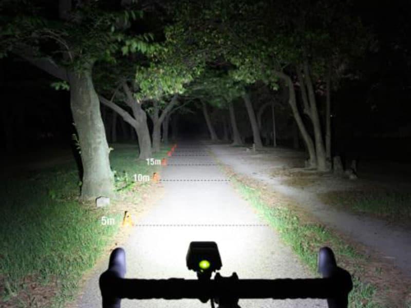 winter biking with a headlight