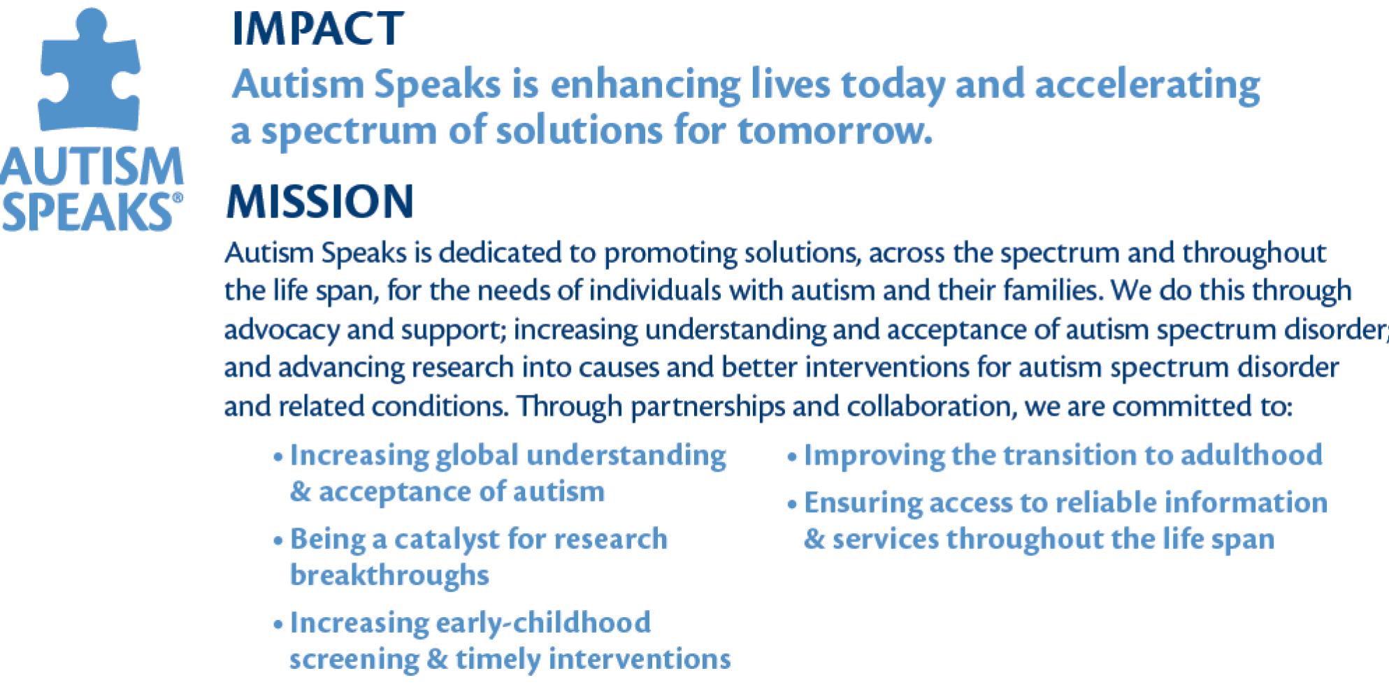 Autism Speaks Updates Their Mission >> Angela Geiger Redefines Autism Speaks Mission Statement